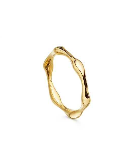 Missoma - Metallic Gold Molten Ring - Lyst