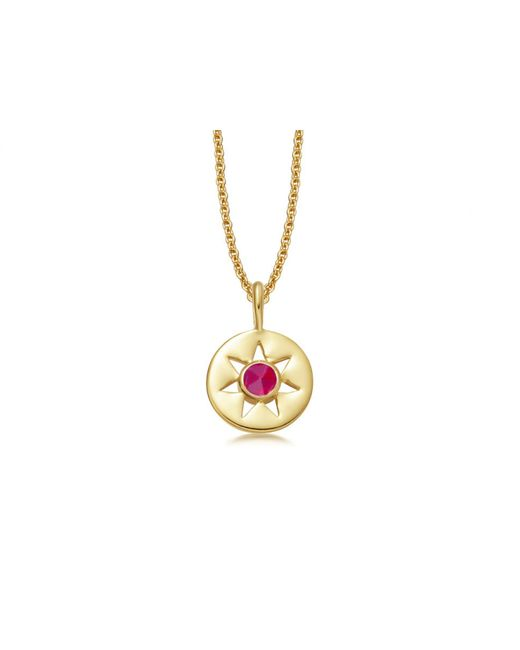Missoma - Multicolor Pink Tourmaline October Birthstone Necklace - Lyst