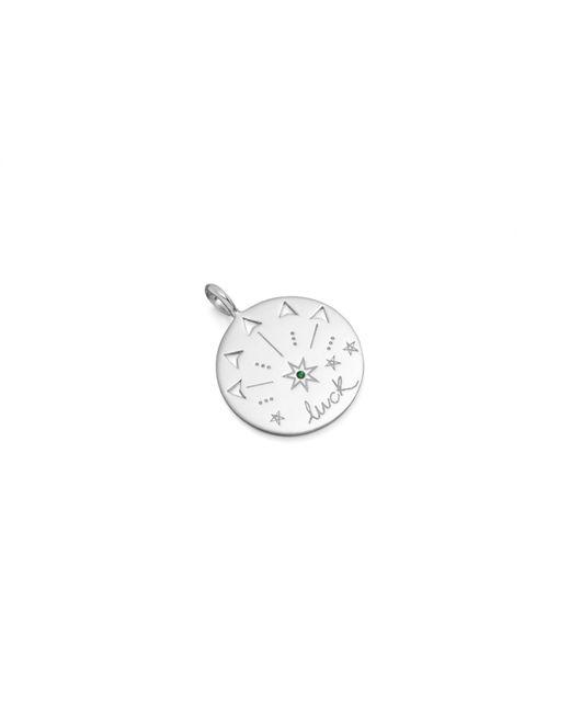 Missoma - Metallic Silver Mantra Luck Talisman Pendant - Lyst