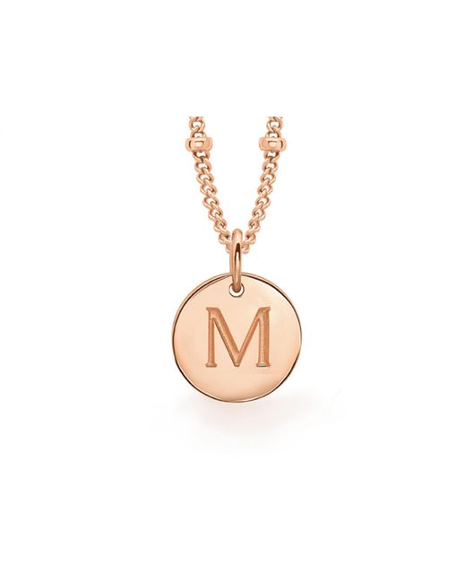 Missoma - Metallic Rose Gold 'm' Initial Necklace - Lyst