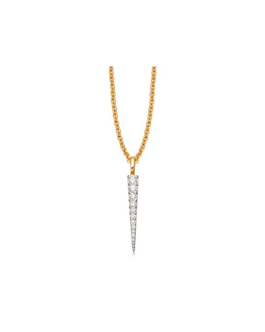 Missoma - Metallic Gold Pave Spike Charm Necklace - Lyst