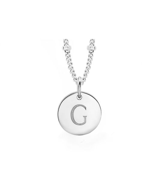 Missoma - Metallic Silver G Initial Necklace - Lyst