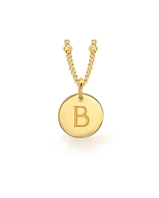 Missoma - Metallic Gold B Initial Necklace - Lyst