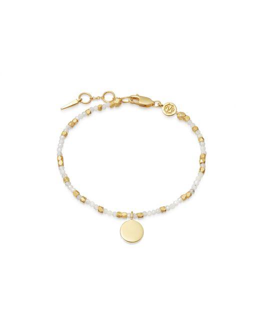 Missoma - Metallic Beaded Rainbow Moonstone Sphere Bracelet - Lyst