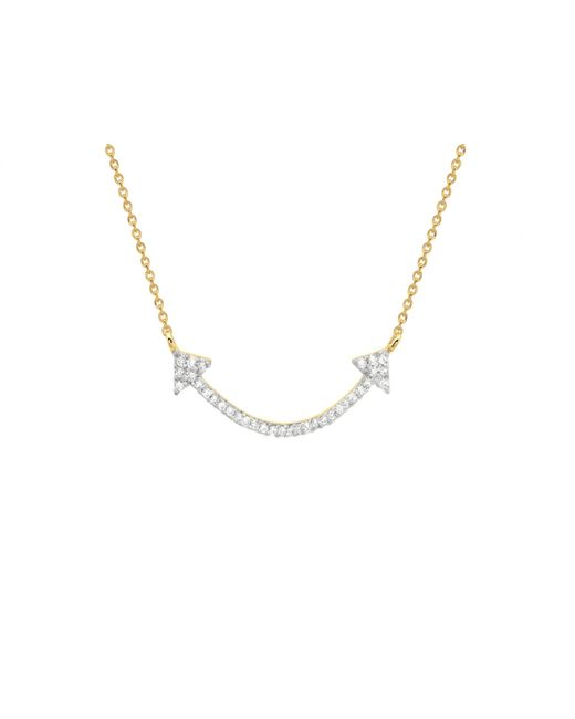Missoma - Metallic Pave Archer Necklace - Lyst