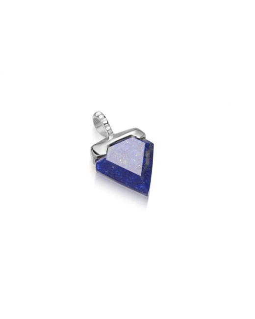 Missoma - Blue Silver Lapis Mini Shield Pendant - Lyst
