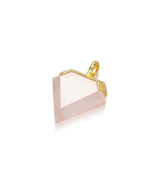 Missoma | Pink Rose Quartz Shield Pendant | Lyst