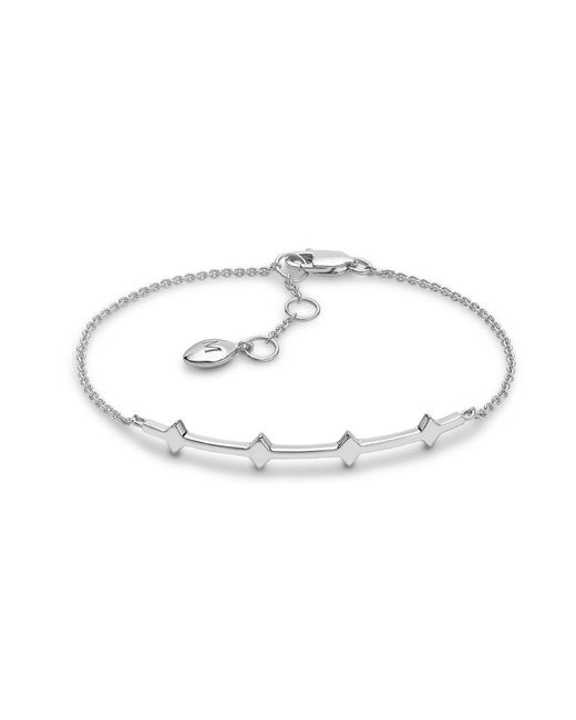 Missoma | Metallic Silver Double Arrow Bracelet | Lyst