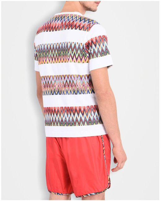 missoni beachwear t shirt in white for men lyst. Black Bedroom Furniture Sets. Home Design Ideas
