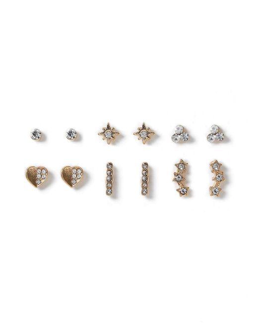 Miss Selfridge | Metallic Crystal Star Multipack | Lyst