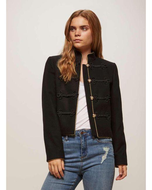 Miss Selfridge | Black Admiral Detailed Military Jacket | Lyst