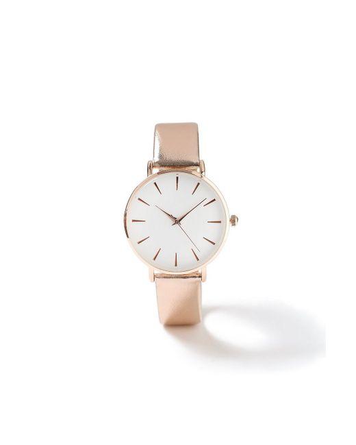 Miss Selfridge - Metallic Strap Watch - Lyst