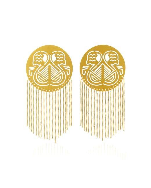 Paula Mendoza - Metallic Pacha Gold-plated Brass Earrings - Lyst