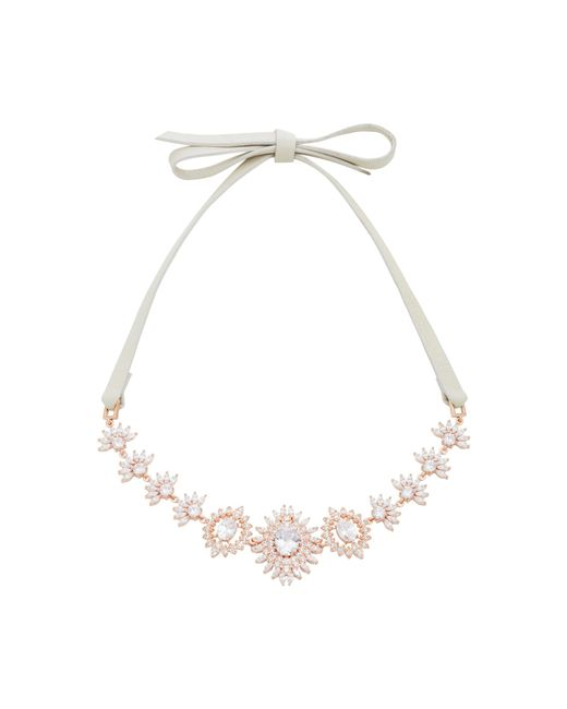 Fallon - Pink Monarch Eye Of Dana Crystal And Rose Gold-plated Choker - Lyst