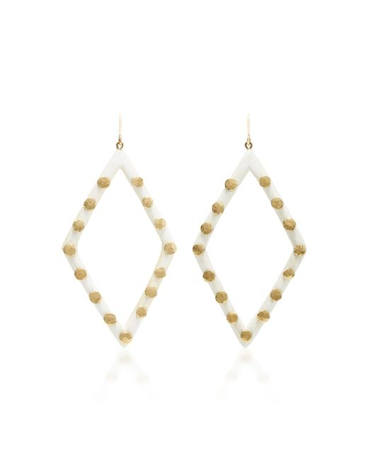 Ashley Pittman - White Light Horn Mila Earring - Lyst