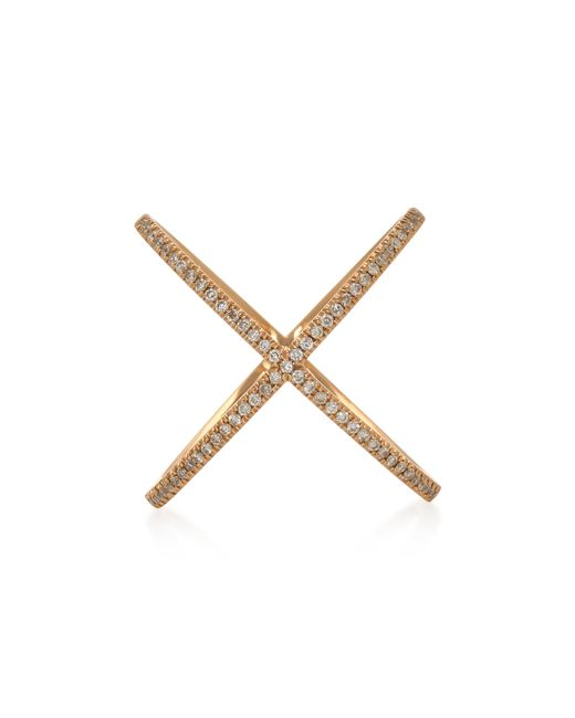 Eva Fehren - Metallic X 18k Rose Gold And Diamond Ring - Lyst