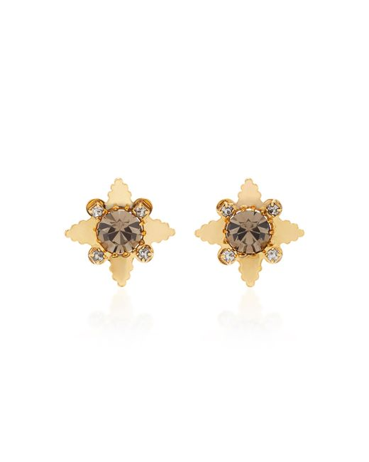 Nicole Romano | Metallic 18k Gold-plated Star Crystal Stud Earrings | Lyst