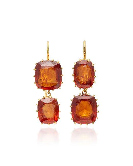 Renee Lewis - Red 18k Gold Garnet Earrings - Lyst