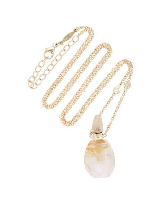 Jacquie Aiche - Pink Small Aladdin Rutilated Quartz Potion Bottle Necklace - Lyst
