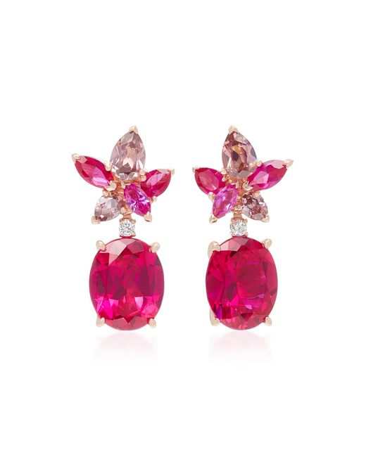 Anabela Chan - Red M'o Exclusive Ruby Lily Earrings - Lyst