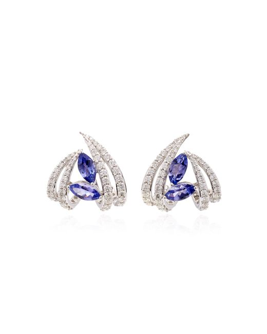 Hueb - Blue M'o Exclusive 18k White Gold, Tanzanite And Diamond Earrings - Lyst