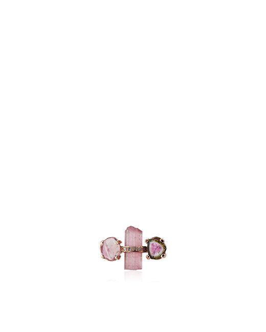 Jacquie Aiche | Pink Tourmaline Stud Single Earring | Lyst