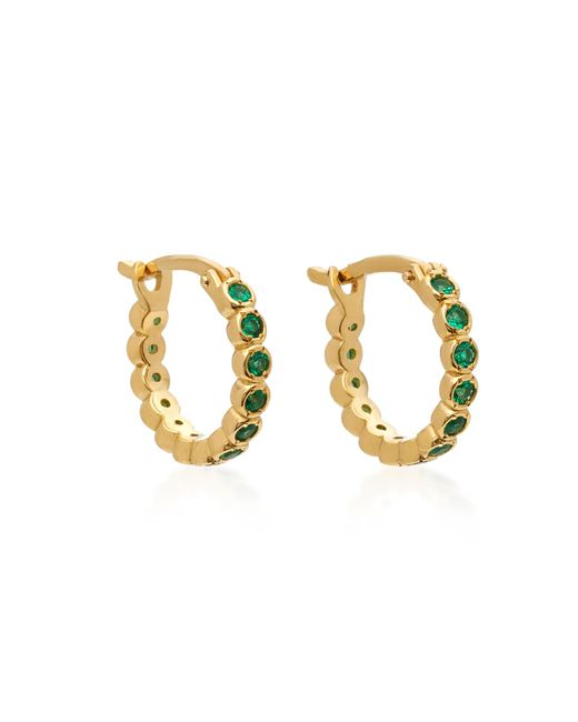 Octavia Elizabeth - Green Chloe 18k Gold Emerald Hoop Earrings - Lyst