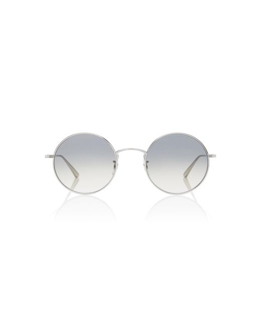 Oliver Peoples - Metallic After Midnight Round Metal Sunglasses - Lyst