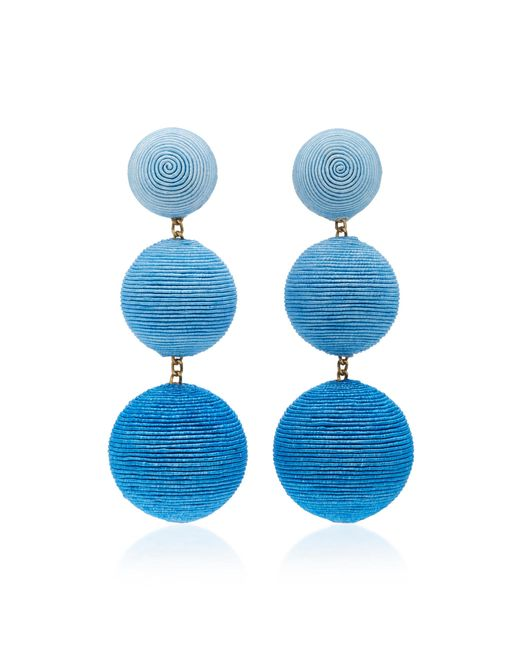 Rebecca de Ravenel - Blue M'o Exclusive Ombre Three Drop Clip Earrings - Lyst