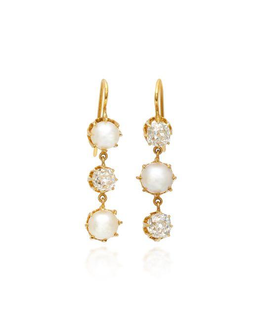 Renee Lewis - Metallic 18k Gold, Pearl And Diamond Earrings - Lyst