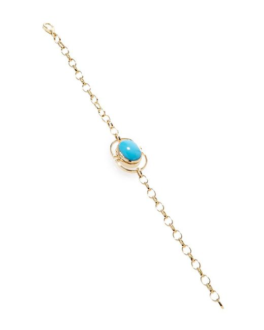 Monica Rich Kosann - Multicolor 18k Yellow Gold Locket Bracelet - Lyst