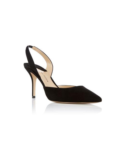 Paul Andrew | Black Suede Slingback Heels | Lyst