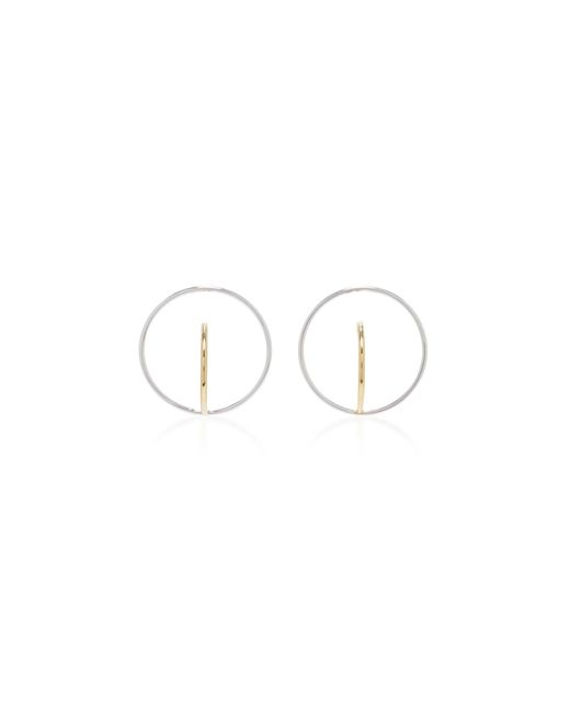 Charlotte Chesnais | Metallic Saturn Gold-dipped And Silver Earrings | Lyst