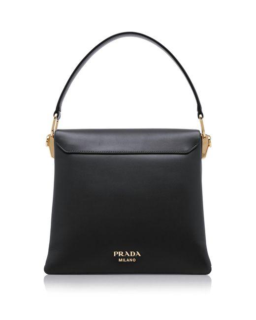 d0a8b0187378 ... Prada - Black New Calf Large Top Handle Bag - Lyst ...