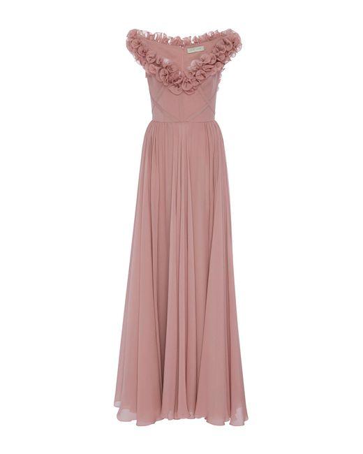 Elie Saab   Pink Sleeveless Ruffled Gown   Lyst