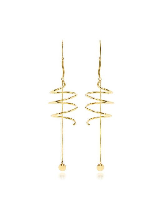 Ellery | Metallic Solitude Spiral Coil Earrings With Ball And Chain | Lyst