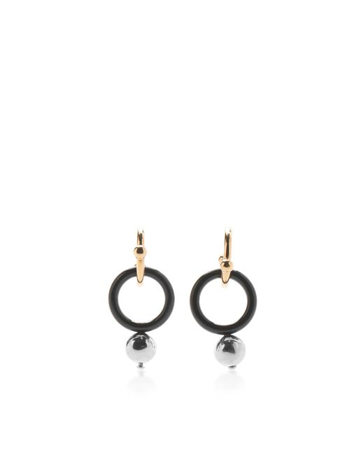 Marni | Black Circle Earrings With Sphere | Lyst