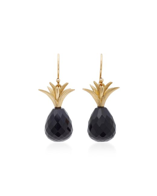 Annette Ferdinandsen   18k Gold Black Onyx Earrings   Lyst