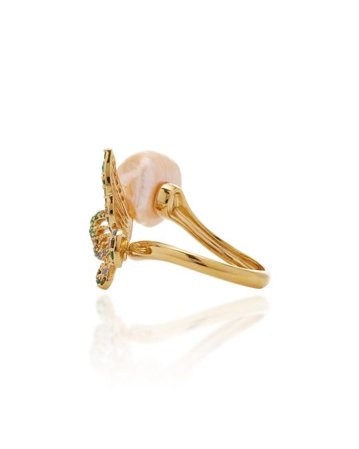 MO Exclusive Rose Butterfly Pearl Ring Anabela Chan lxmJWKsh