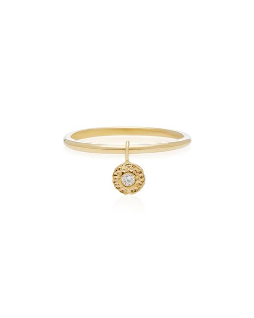 Octavia Elizabeth   Metallic 18k Gold Diamond Ring   Lyst