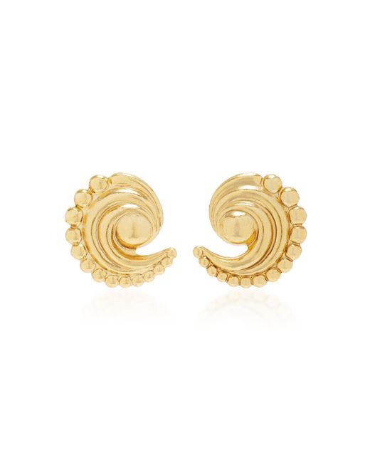 Nicole Romano | Metallic 18k Gold-plated Swirled Crescent Metal Earrings | Lyst