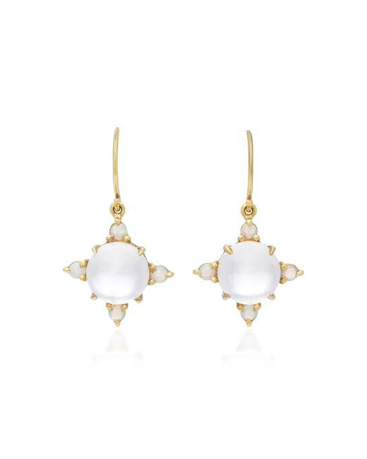 Daria de Koning   Pink Dagny Sun 18k Gold Multi-stone Earrings   Lyst