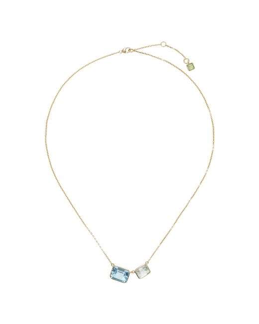 Yi Collection | Blue 18k Gold Topaz, Amethyst, And Peridot Necklace | Lyst