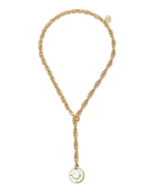 Fallon | Metallic Prodigiam Gold-tone Medallion Lariat Necklace | Lyst
