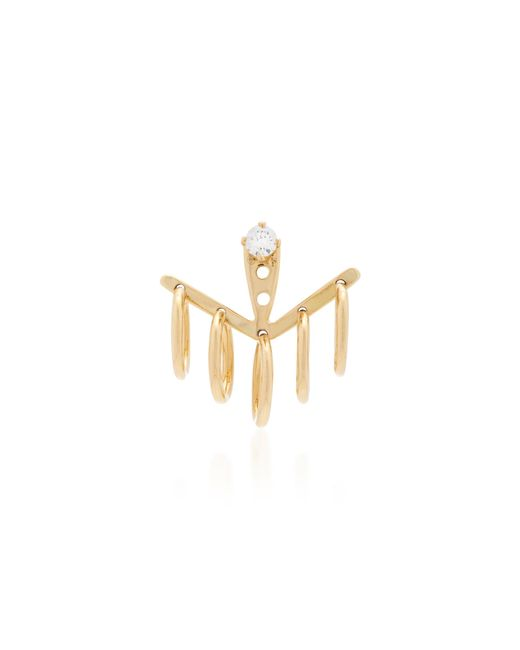 Yvonne Léon | Metallic Creole 18k Gold Diamond Earring | Lyst