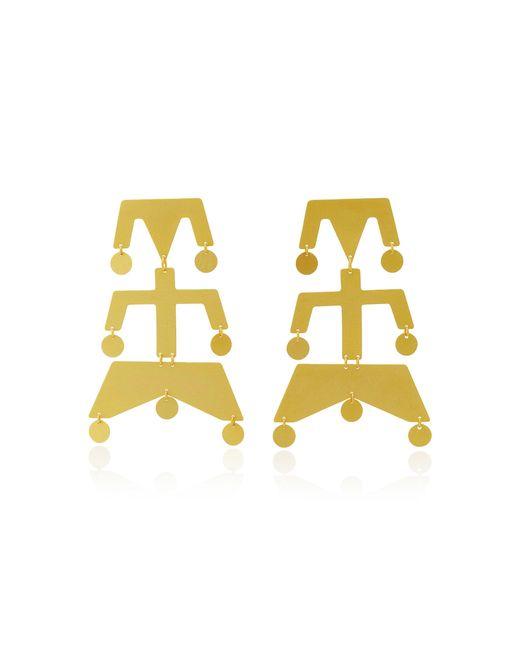 Paula Mendoza - Metallic Wounam Medium Gold-plated Brass Earrings - Lyst