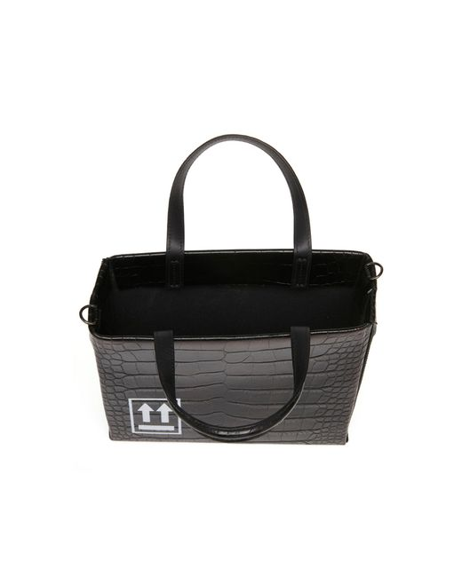 ... Off-White c o Virgil Abloh - Black Mini Embossed Leather Tote - Lyst ... ace648a9a575d