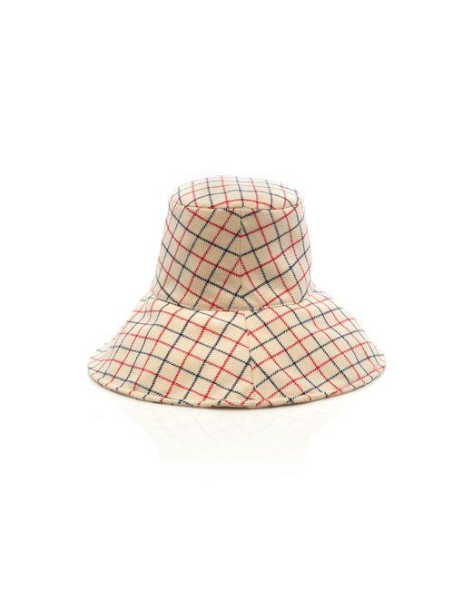 ... Maison Michel - Natural Isabella Checked Wool Bucket Hat - Lyst ... eabebf737e8c