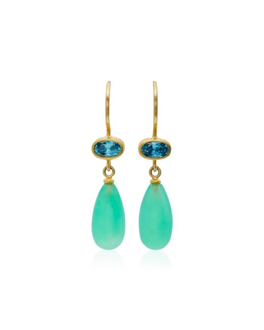 Mallary Marks | Green Apple & Eve Blue Zircon Earrings | Lyst