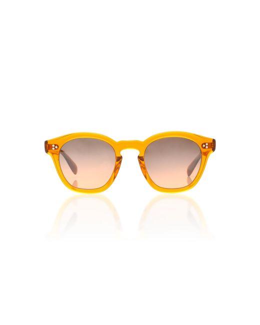 Oliver Peoples - Orange Boudreau La Round Sunglasses for Men - Lyst